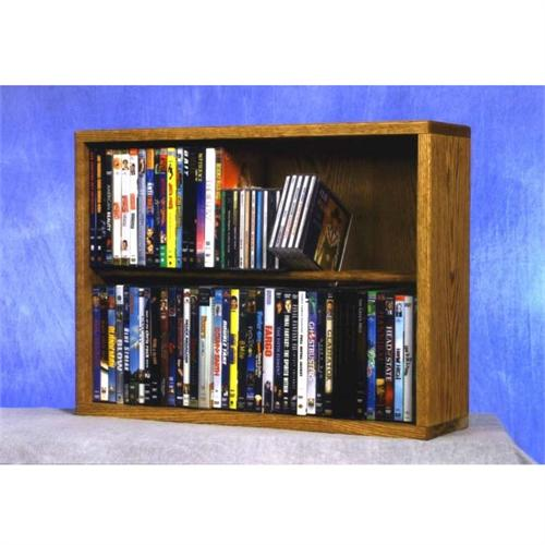 View a large image of the Wood Shed Solid Oak Combination CD and DVD Rack TWS-215-24COMBO here.