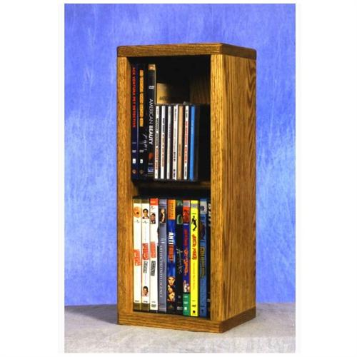 View a large image of the Wood Shed Solid Oak Combination CD and DVD Rack TWS-215COMBO here.