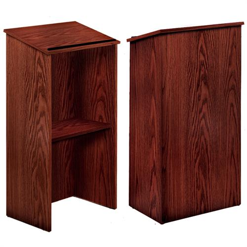 View a large image of the Oklahoma Sound Full Floor Lectern Mahogany 222-MY here.