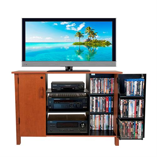 View a large image of the Venture Horizon 42 inch TV Stand and Locking Media Storage Cabinet Cherry 2365-42CH here.