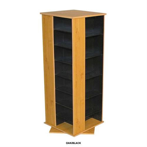 View a large image of the Venture Horizon 928 CD Revolving Media Tower Oak and Black 2380-33BO here.