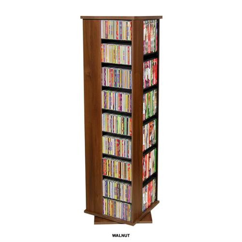 View a large image of the Venture Horizon 612 CD Revolving Media Tower Walnut 2385-60DW here.