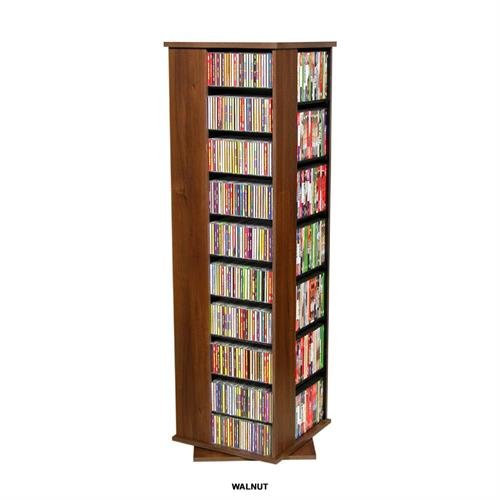 View a large image of the Venture Horizon 1160 CD Revolving Media Tower Walnut 2390-60DW here.