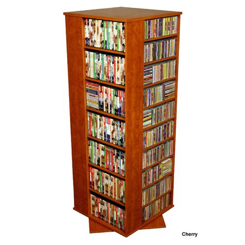 View a large image of the Venture Horizon 1600 CD Revolving Media Tower Cherry 2393-42CH here.