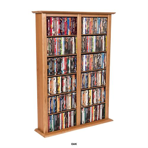 View a large image of the Venture Horizon Double Media Storage Tower Oak 2402-33OA here.