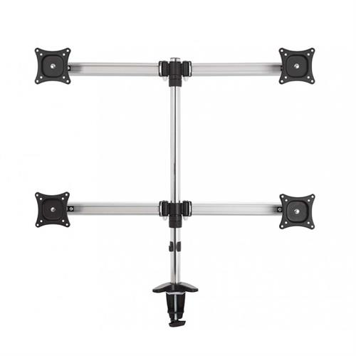 View a large image of the AVF Quad Head Tilt and Turn Monitor Desk Mount Black MRC2403-A here.