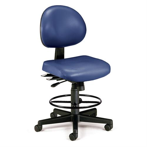 View a larger image of the OFM Vinyl Ergonomic Chair with Drafting Kit (Navy) 241-VAM-DK-605 here.