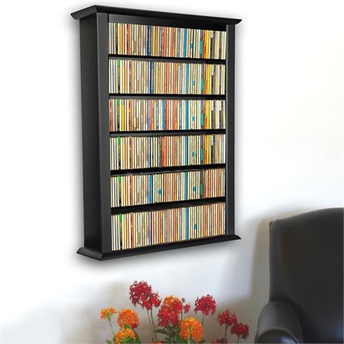 View a larger image of the Venture Horizon Single Wall-Mounted Media Cabinet (Black) 2421-21BL.