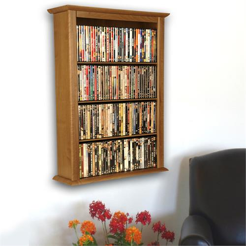 View a large image of the Venture Horizon Single Wall-Mounted Media Cabinet Oak 2421-33OA here.
