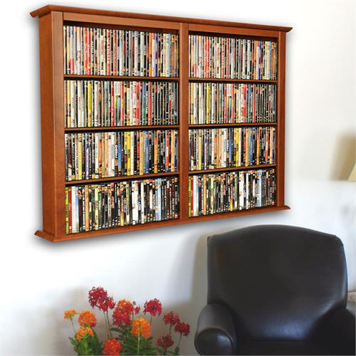View a larger image of the Venture Horizon Double Wall-Mounted Media Cabinet (Cherry) 2422-42CH.