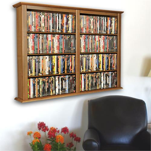 View a large image of the Venture Horizon Double Wall-Mounted Media Cabinet Oak 2422-33OA here.