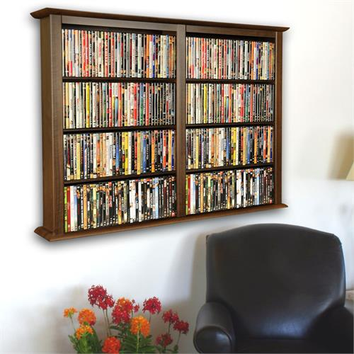 View a large image of the Venture Horizon Double Wall-Mounted Media Cabinet Walnut 2422-60DW here.