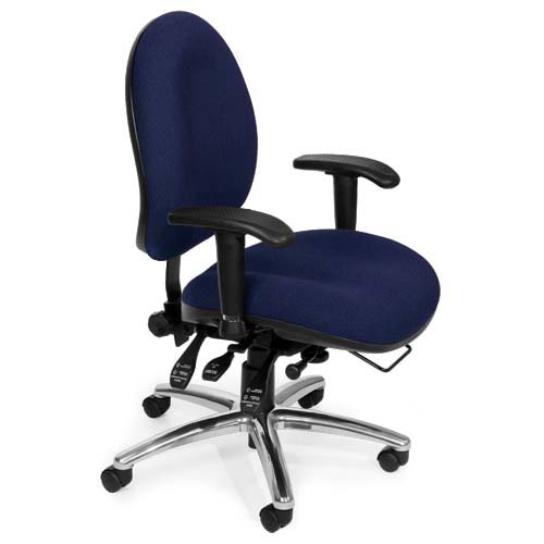 View a large image of the OFM Hi-Back 24-Hour Big and Tall Computer Task Chair Blue 247-202 here.