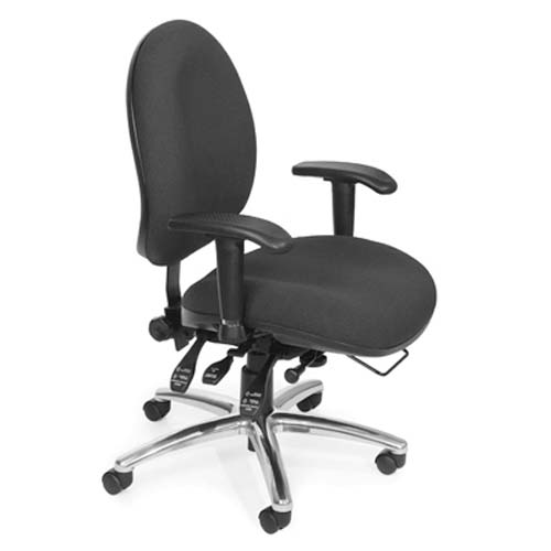 View a large image of the OFM Hi-Back 24-Hour Big and Tall Computer Task Chair Charcoal 247-203 here.