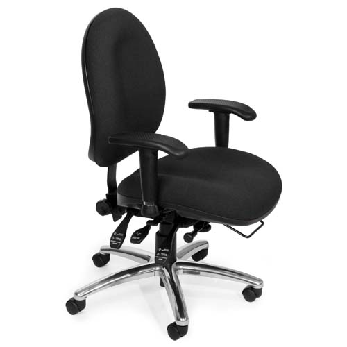 View a large image of the OFM Hi-Back 24-Hour Big and Tall Computer Task Chair Black 247-206 here.