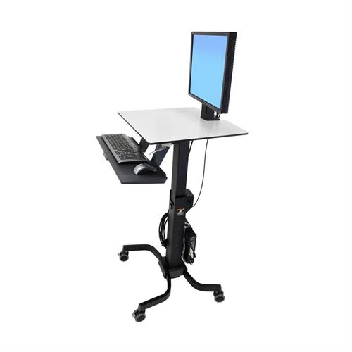 View a large image of the Ergotron Sit-Stand Workstation (WorkFit-C, Single, Light) 24-215-085.