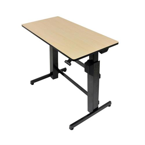View a large image of the Ergotron Sit-Stand Desk (WorkFit-D, Birch) 24-271-928.