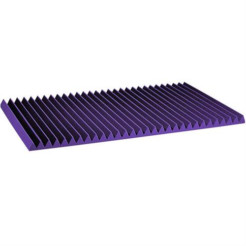 View a large image of the Auralex 2 in. Wedge Sound Absorption Panels 2x4 ft Purple 2SF24PUR here.