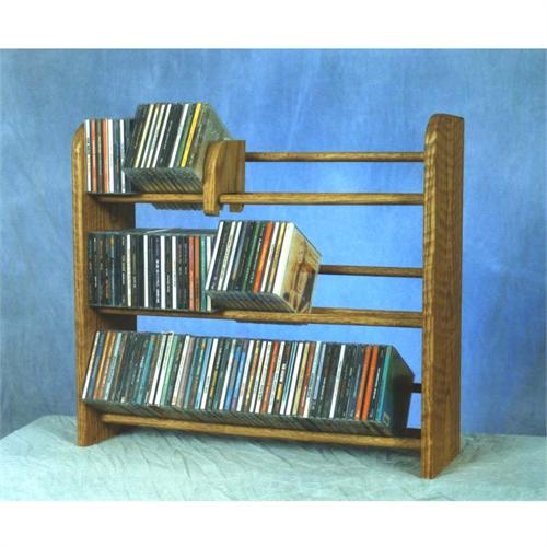 View a larger image of the Wood Shed Solid Oak Dowel CD Rack TWS-301.