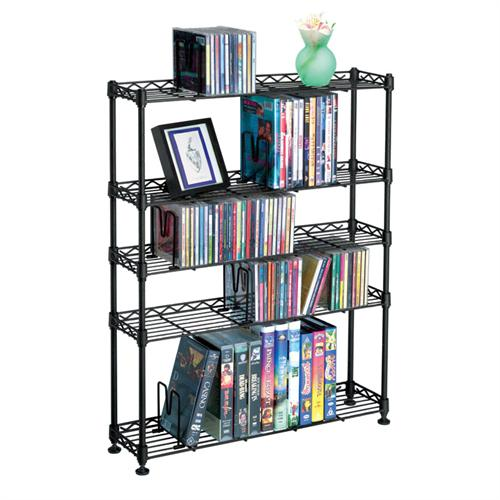 View a larger image of the Atlantic Maxsteel 5 Tier Multimedia Rack for CDs, DVDs and Bluray (Black) 3010.