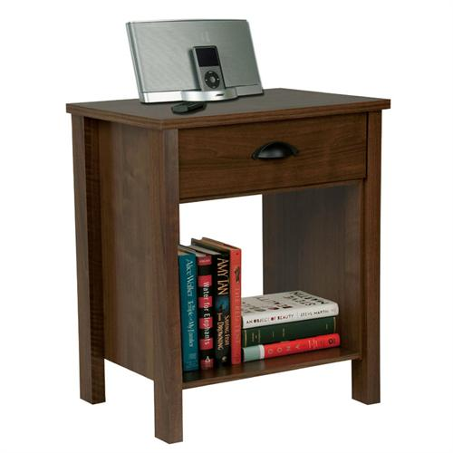 View a large image of the Venture Horizon Nouvelle Collection Nightstand Walnut 3017-60DW here.