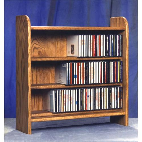 View a larger image of the Wood Shed Solid Oak Cabinet CD Rack TWS-302.
