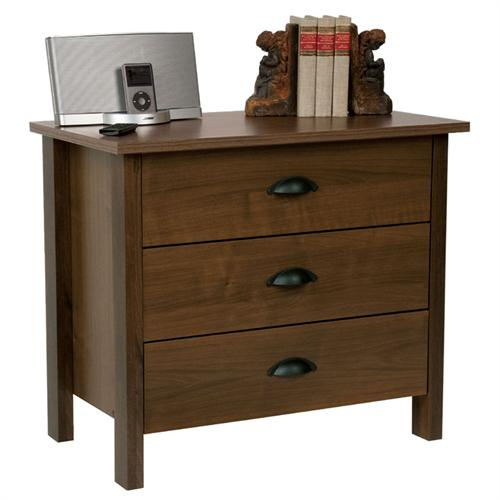 View a large image of the Venture Horizon Nouvelle Collection 3 Drawer Chest Walnut 3027-60DW here.