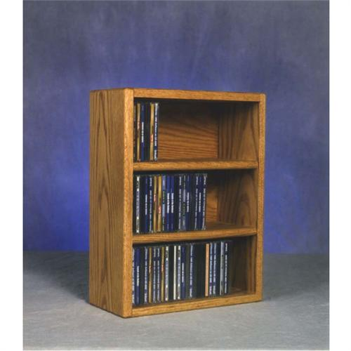 View a large image of the Wood Shed Solid Oak Wall Mount CD Racks TWS-303-1 here.