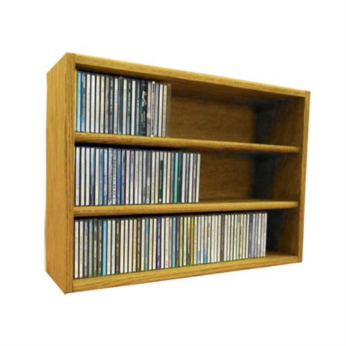 View a large image of the Wood Shed Solid Oak CD Storage Rack 186 CD Capacity TWS-303-2 here.