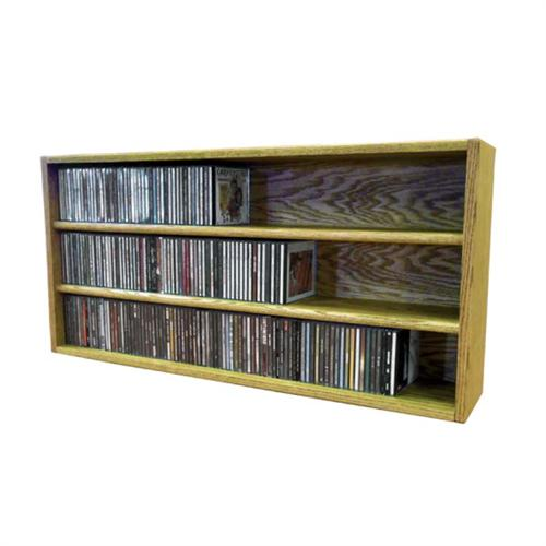 View a large image of the Wood Shed Solid Oak CD Storage Rack 282 CD Capacity TWS-303-3 here.