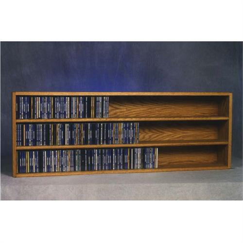 View a large image of the Wood Shed Solid Oak Wall Mount CD Racks TWS-303-4 here.