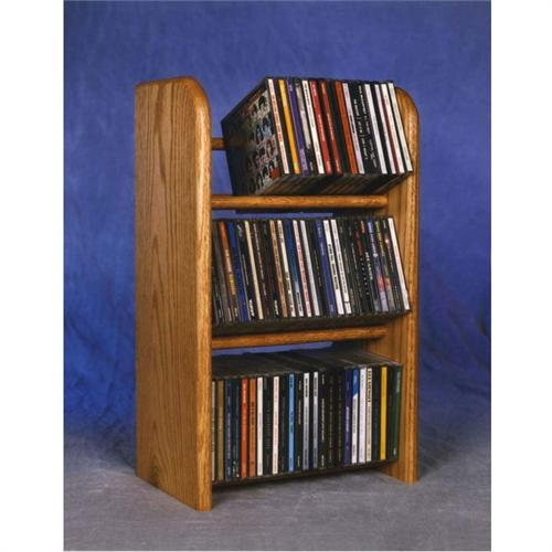 View a large image of the Wood Shed Solid Oak CD Storage Rack TWS-304 here.