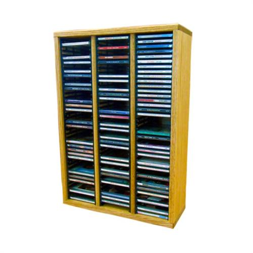View a large image of the Wood Shed Solid Oak CD Rack 120 CD Capacity TWS-309-2 here.