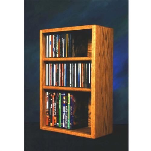 View a large image of the Wood Shed Solid Oak CD DVD VHS Combination Rack Various Finishes 312-1W here.