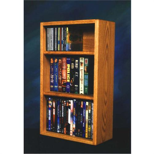View a large image of the Wood Shed Solid Oak CD DVD VHS Media Storage Rack Various Finishes 313-1W here.