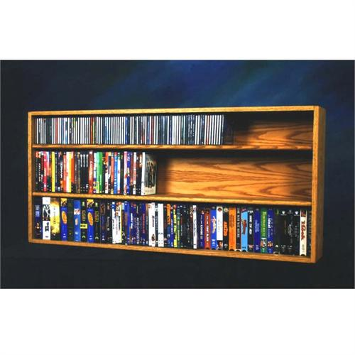 View a large image of the Wood Shed Solid Oak CD DVD VHS Media Storage Rack Various Finishes 313-4W here.