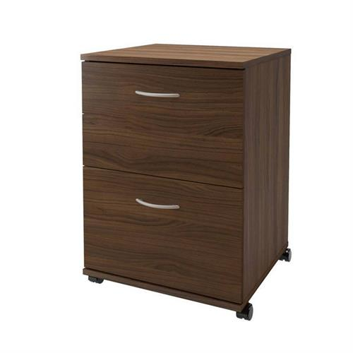 View a larger image of Nexera Essentials Mobile Filing Cabinet (2-Drawer, Walnut) 3193 here.