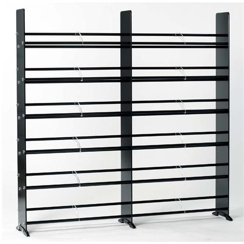 View a larger image of the TransDeco High Gloss Black Glass 792 CD DVD Storage Rack (Black and Chrome) TD320B.