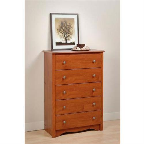 View a large image of the Prepac Monterey Collection 5-Drawer Chest Cherry CDC-3345-K here.