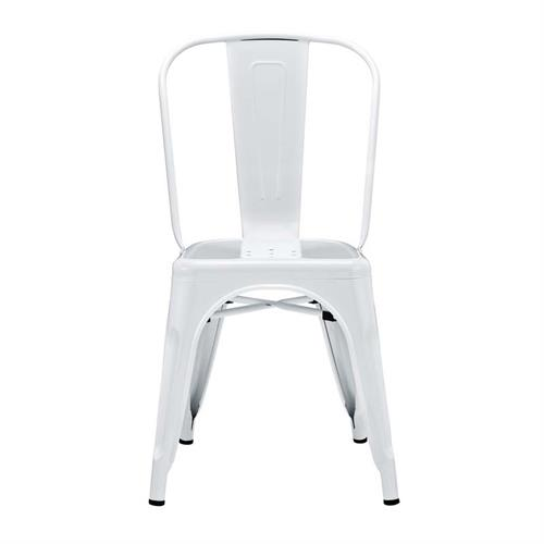 View a larger image of the Walker Edison Single Metal Café Chair (Antiqued White) CH33MCWH.