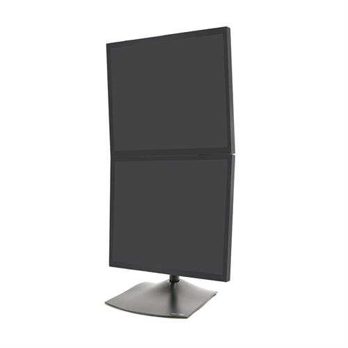 View a large image of the Ergotron DS100 Vertical 2 Monitor Desktop Stand for 10-20 inch Screens 33-091-200 here.