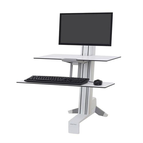 View a large image of the Ergotron Sit-Stand Desk Mount (WorkFit-S, LHT, WS, Front, WT) 33-350-211.