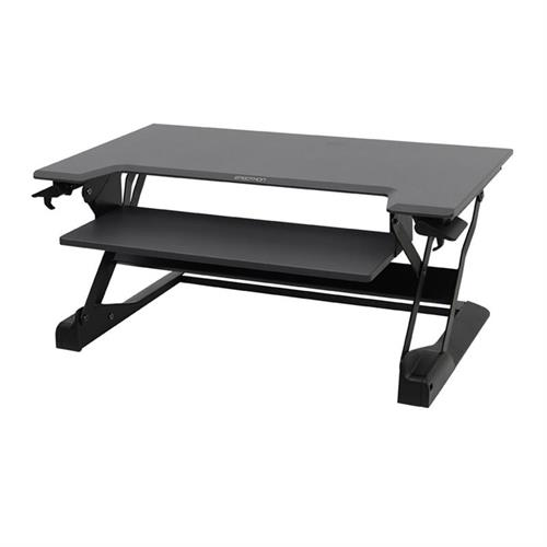 View a large image of the Ergotron Sit-Stand Desk Converter (WorkFit-TL, Lg, BK Grey) 33-406-085.
