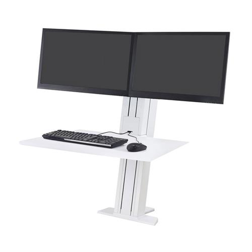 View a large image of the Ergotron Sit-Stand Desk Mount (WorkFit-SR, Dual, Rear, WT) 33-407-062.