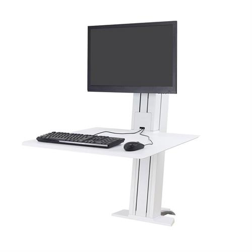 View a large image of the Ergotron Sit-Stand Desk Mount (WorkFit-SR, Single, Rear, WT) 33-415-062.