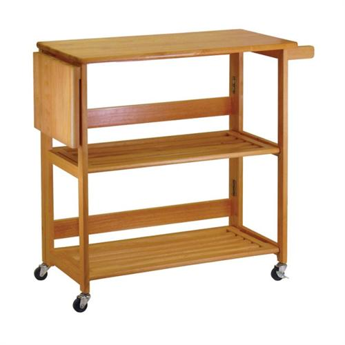 View a large image of the Winsome Wood Foldable Kitchen Cart 34137 here.