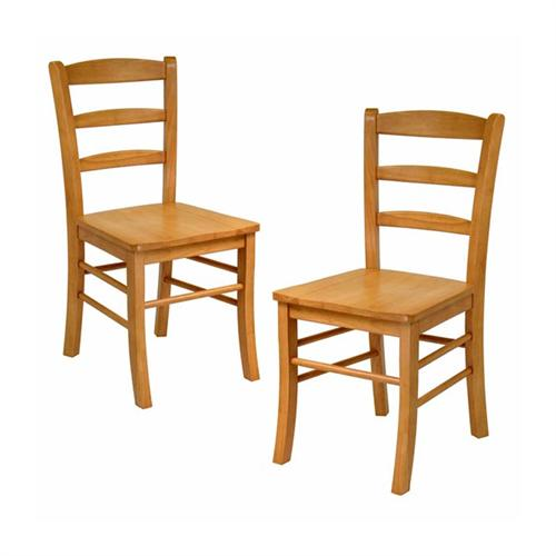 View a large image of the Winsome Wood Light Oak Ladder Back Chairs Set of 2 34232 here.