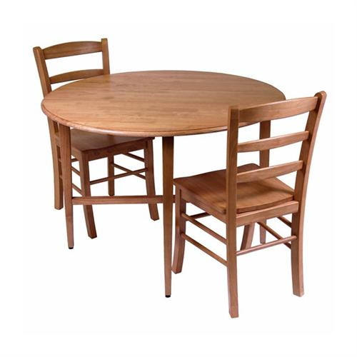 View a large image of the Winsome Wood Hannah 3-Piece Dining Set Light Oak 34342 here.