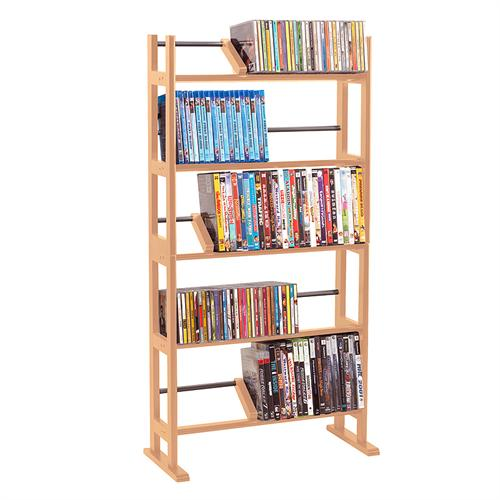 View a larger image of the Atlantic Element Media Rack for 230 CDs or 150 DVDs (Maple) 35535687.