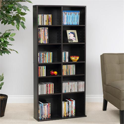View a large image of the Atlantic Media Cabinet 464 CDs or 228 DVDs or 276 Bluray Espresso 38435719 here.